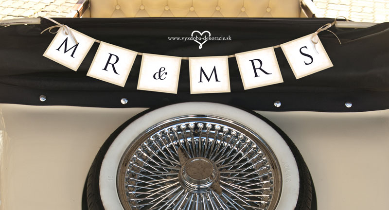 Baner Mr & Mrs - retro